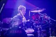 Chris Talbot, baterista de Wild Beasts (BIME festival, Barakaldo, 2016)