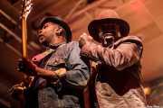 Corey Glover -voz- y Vernon Reid -guitarra- de Living Colour (Santana 27, Bilbao, 2016)
