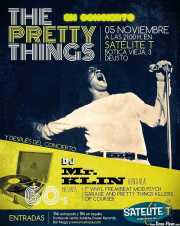 Cartel de The Pretty Things (Satélite T, Bilbao, )