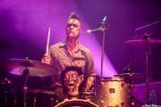 Gaybeul, baterista de Demented Are Go (Kafe Antzokia, Bilbao, 2016)