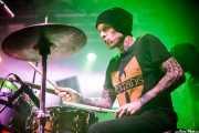 Michael Lloyd, baterista de Leogun (Santana 27, Bilbao, 2016)