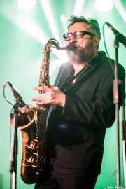 Damian Hand, saxofonista de The James Hunter Six (Purple Weekend Festival, León, 2016)