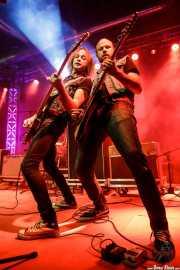 George Reese -bajo- y Milton Chapman -guitarra- de The Barreracudas (Purple Weekend Festival, León, 2016)