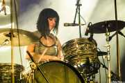 Letty Beers, baterista de Screaming Lord Stax & The Savages (Purple Weekend Festival, León, 2016)