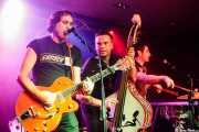 """Alfredo Niharra -voz y guitarra-, Edu Uña -contrabajo y voz- y Ricardo Ibáñez """"Ricky"""" -batería- de Speed on Rocking Trio (Santana 27, Bilbao, 2016)"""