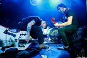 Edu Uña -contrabajo y voz- y Alfredo Niharra -voz y guitarra- de Speed on Rocking Trio (Santana 27, Bilbao, 2016)