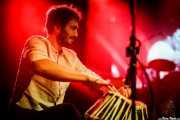 Ander Cisneros, perocusionista en el Homenaje a The Concert for Bangladesh. George Harrison (Santana 27, Bilbao, 2016)