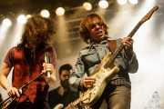 Miguel Morán -voz-, Álvaro Segovia -guitarra- y Gonzalo Portugal -guitarra y voz- en el Homenaje a The Concert for Bangladesh. George Harrison (Santana 27, Bilbao, 2016)