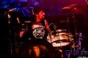 Néstor Aranguren, baterista de The Guilty Brigade (Kafe Antzokia, Bilbao, 2017)