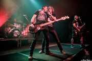 Potxeta Ardanza -batería-, Jokin Garaikoetxea -bajo-, Aitor Ibarretxe -voz- y Joxemi Urkullu -guitarra- de Lendakaris Muertos (Kafe Antzokia, Bilbao, 2017)