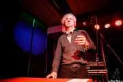 Peter Zaremba, cantante, teclista y armonicista de The Fleshtones (Kafe Antzokia, Bilbao, 2017)