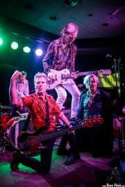Ken Fox -bajo y voz-, Bill Milhizer -batería-, Peter Zaremba -voz, teclado y armónica- y Keith Streng -guitarra y voz- de The Fleshtones (Kafe Antzokia, Bilbao, 2017)