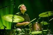 Javier Gómez, baterista de Depedro (Kafe Antzokia, Bilbao, 2017)