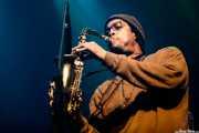 Charles Cooper, cantante y saxofonista de Charles Cooper Chop (Kafe Antzokia, Bilbao, 2017)