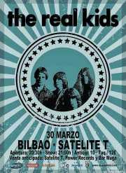 Cartel de The Real Kids (Satélite T, Bilbao, )