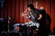 """Alberto Diez """"Pelos"""", baterista de Los Cosméticos (Satélite T, Bilbao, 2017)"""