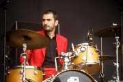 Luis de Diego, baterista de Wyoming y los Insolventes (Music Legends Fest, Sondika, 2017)