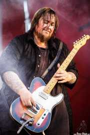 Johnny Casino, guitarrista de Penny Ikinger (Andoaingo Rock Jaialdia, Andoain, 2017)