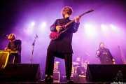 Elias Jungquist -teclado-, , Billy Cervin -guitarra-, Hugo Martensson -batería- y Ebbot Lundberg -voz y armónica- de Ebbot Lundberg & The Indigo Children (Andoaingo Rock Jaialdia, Andoain, 2017)