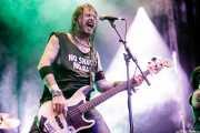 Billy Velvet, bajista de Crank County Daredevils (Azkena Rock Festival, Vitoria-Gasteiz, 2017)