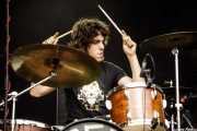 Lete G. Moreno, baterista de SCR (Azkena Rock Festival, Vitoria-Gasteiz, 2017)