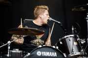 Woody Lee, baterista de Bloodlights (Azkena Rock Festival, Vitoria-Gasteiz, 2017)