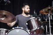 Chavi Marco, baterista de Vulk (Bilbao BBK Live, Bilbao, 2017)