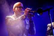 Jason Colby, trompetista de Lee Fields & The Expressions (Mundaka Festival, Mundaka, 2017)