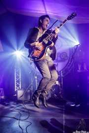 Roi Fontoira, cantante y guitarrista de The Limboos (Aste Nagusia - Algara Txosna, Bilbao, 2017)