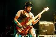 """Gabriel """"Brown"""" León, bajista y contrabajista de James Room & Weird Antiqua (Bilborock, Bilbao, 2017)"""