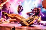 Rodrigo Farmer -voz, mandolina y banjo- y Goyo -acordeón- de (Aste Nagusia - Plaza Nueva, Bilbao, 2017)