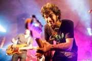 Sergio Gil -bajo- y Pablo Moreno -guitarra y voz- de Yellow Big Machine (Aste Nagusia - Algara Txosna, Bilbao, 2017)