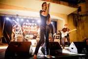 Gorka Pastor -voz-, Pat Harrizelay -guitarra-, Chechu -bajo- y Alberto L. Martín -batería- de La Secta (Festivalle Tobalina, Quintana Martín Galíndez, 2017)