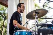Javier Rubio, baterista de The Oddballs (Festivalle Tobalina, Quintana Martín Galíndez, 2017)
