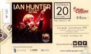 Entrada de Ian Hunter & The Rant Band (Kafe Antzokia, Bilbao, )