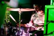 Baby Genius, baterista de The Goddamn Gallows (Nave 9 (Museo marítimo), Bilbao, 2017)