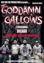 Cartel de The Goddamn Gallows (Nave 9 (Museo marítimo), Bilbao, )