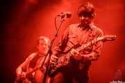 """Paco Luis Martos -bajo,washtub bass,guitarra- y Pedro de Dios Barcelo """"Perico"""" -voz y guitarra- de Guadalupe Plata (Santana 27, Bilbao, 2017)"""
