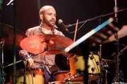 Julen Achiary, baterista de Bas(h)oan (Kafe Antzokia, Bilbao, 2018)