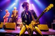 Peter Zaremba -voz y teclado-, Keith Streng -guitarra y voz- y Ken Fox -bajo- de The Fleshtones (Kafe Antzokia, Bilbao, 2018)