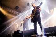 "David Aguayo -guitarra-, Jon Morcillo ""Mortx"" -bajo-, Jonathan Rivas ""Jony"" -voz-, Alfonso Aguayo ""Aguayiko"" -guitarrra- y Xabier Aldaz -batería- de Kaotiko (Santana 27, Bilbao, 2018)"