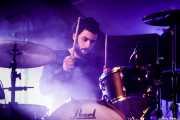 Ander Benito, baterista de Cecilia Payne (Palacio Euskaduna Jauregia, Bilbao, 2018)