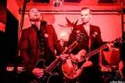 Andrea Bonfiglio -guitarra-, Juan Marco -batería- y Javi Diesel -voz y guitarra- de The Diesel Dogs (Shake!, Bilbao, 2018)