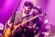 Saúl Santolaria -voz y armónica- y Pit Idoyaga -guitarra- de Saúl & Friends (Kafe Antzokia, Bilbao, 2018)