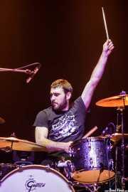 Julen Makazaga, baterista de The Northagirres (Kafe Antzokia, Bilbao, 2018)