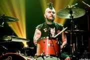 Christian Rodríguez, baterista de Lukiek (Kafe Antzokia, Bilbao, 2018)