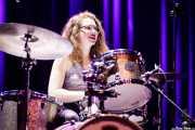 Gloria Maurel, baterista de The Excitements (Kafe Antzokia, Bilbao, 2018)