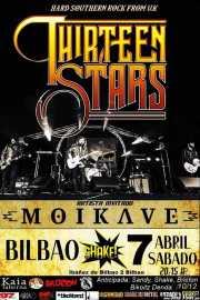 Cartel de Thirteen Stars (Shake!, Bilbao, )
