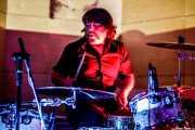 Urko Roa, baterista de Lie Detectors (Nave 9 (Museo marítimo), Bilbao, 2018)