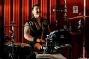 Simon Bowley, baterista de Eddie and the Hot Rods (Satélite T, Bilbao, 2018)